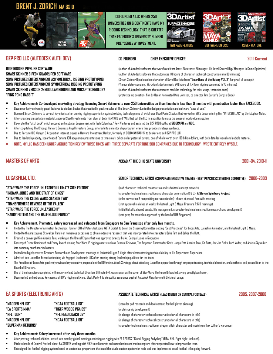 TWO PAGE RESUME PDF LINK  Harry Potter Resume