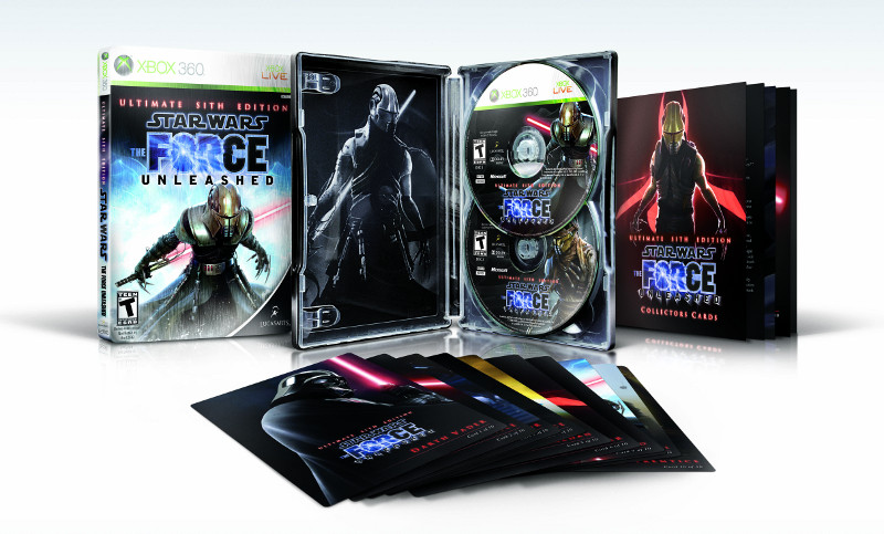 Contents of Star Wars The Force Unleashed: Ultimate Sith Edition for Xbox 3